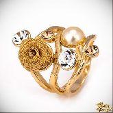 Кольцо с кристаллами Сваровски IR0188G, размер свободный