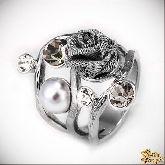 Кольцо с кристаллами Сваровски IR0188R, размер свободный