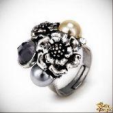 Кольцо с кристаллами Сваровски IR0189, размер свободный