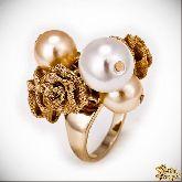 Кольцо с кристаллами Сваровски IR0190G, размер 17,5