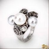 Кольцо с кристаллами Сваровски IR0190R, размер свободный