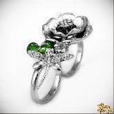 Кольцо с кристаллами Сваровски IR0191R, размер 17-18