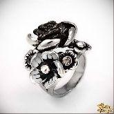 Кольцо с кристаллами Сваровски IR0192, размер 18,0