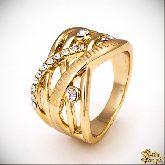 Кольцо с кристаллами Сваровски IR0195G, размер 16,5, 17,5