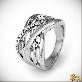 Кольцо с кристаллами Сваровски IR0195R, размер 18,0