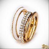 Кольцо с кристаллами Сваровски IR0196, размер 18,5