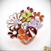 Кольцо с кристаллами Сваровски IR0199, размер 17,5