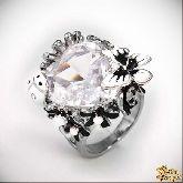 Кольцо с кристаллами Сваровски IR0200R, размер 18,0