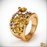 Кольцо с кристаллами Сваровски IR0201G, размер 18,0