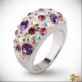 Кольцо с кристаллами Сваровски IR0203, размер 17,5