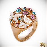 Кольцо с кристаллами Сваровски IR0206, размер 18,0