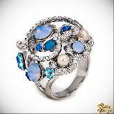 Кольцо с кристаллами Сваровски IR0212, размер 18,5