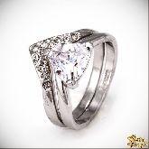 Кольцо с кристаллами Сваровски IR0214, размер 16,5