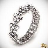 Кольцо с кристаллами Сваровски IR0218W, размер 16, 17, 18