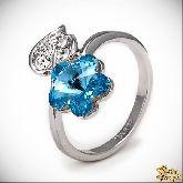 Кольцо с кристаллами Сваровски IR0219, размер 18,0