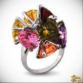 Кольцо с кристаллами Сваровски IR0221M, размер 18,0