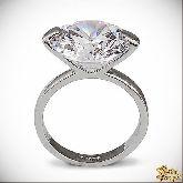 Кольцо с кристаллами Сваровски IR0236, размер 17,5