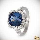 Кольцо с кристаллами Сваровски IR0237B, размер 18,0