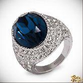 Кольцо с кристаллами Сваровски IR0238, размер 19,0
