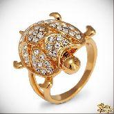 Кольцо с кристаллами Сваровски IR0239G, размер свободный