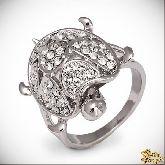 Кольцо с кристаллами Сваровски IR0239R, размер 19,0