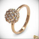 Кольцо с кристаллами Сваровски IR0240G, размер 19,0