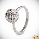 Кольцо с кристаллами Сваровски IR0240R, размер 16, 16,5, 17, 18