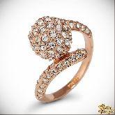 Кольцо с кристаллами Сваровски IR0241G, размер 17,0