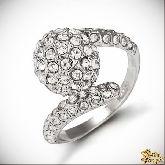 Кольцо с кристаллами Сваровски IR0241R, размер 18,0