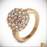 Кольцо с кристаллами Сваровски IR0242G, размер 18,0