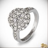 Кольцо с кристаллами Сваровски IR0242R, размер 16,5