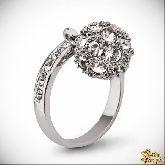 Кольцо с кристаллами Сваровски IR0243, размер 17,5