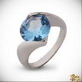 Кольцо с кристаллами Сваровски IR0245B, размер 16,5