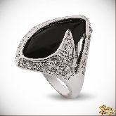 Кольцо с кристаллами Сваровски IR0248BL, размер 18,0