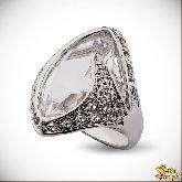 Кольцо с кристаллами Сваровски IR0248W, размер 18,0