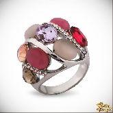 Кольцо с кристаллами Сваровски IR0255R, размер 18,5