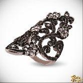 Кольцо с кристаллами Сваровски IR0257, размер 16,5