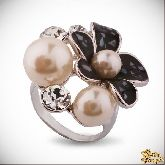Кольцо с кристаллами Сваровски IR0259, размер 18,0