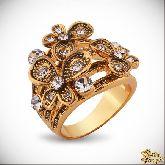 Кольцо с кристаллами Сваровски IR0260G, размер 18,0