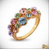 Кольцо с кристаллами Сваровски IR0264, размер 17,5