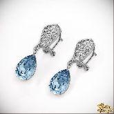 Серьги с кристаллами Сваровски IS0313