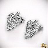 Серьги с кристаллами Сваровски IS0321W