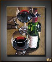 Два бокала с вином, картина, Модерн натюрморт №1