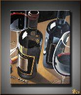 Французское вино, картина, Модерн натюрморт №2