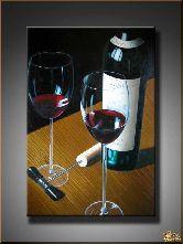 Красное вино, картина, Модерн натюрморт №4