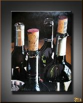 Классические вина, картина, Модерн натюрморт №5