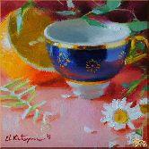 Утренний чай, картина, Модерн натюрморт №7