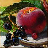 Яблоко и виноград, картина, Модерн натюрморт №8