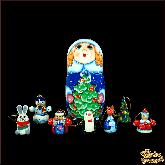 """Деревянная игрушка Матрёшка-набор """"Снегурочка"""""""