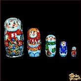 """Деревянная игрушка Матрёшка """"Семья снеговиков"""""""